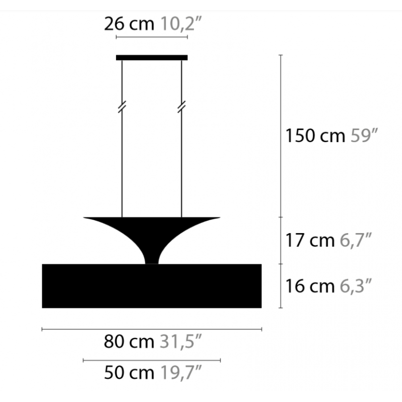 Maten - Hanglamp - Airwave H5+2 XL - Ilfari