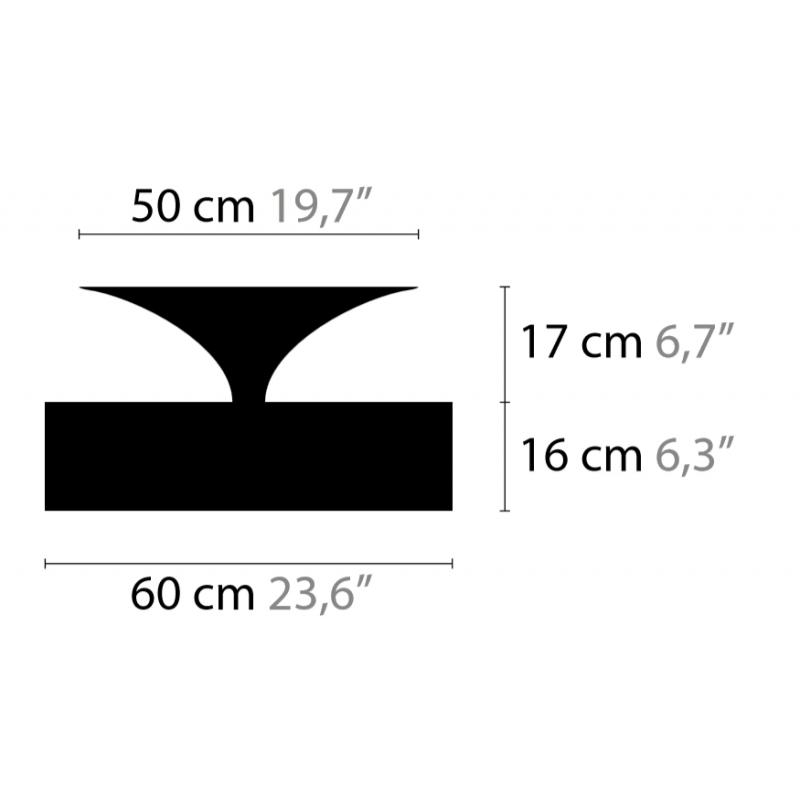 Maten - Plafondlamp - Airwave C5 - Ilfari