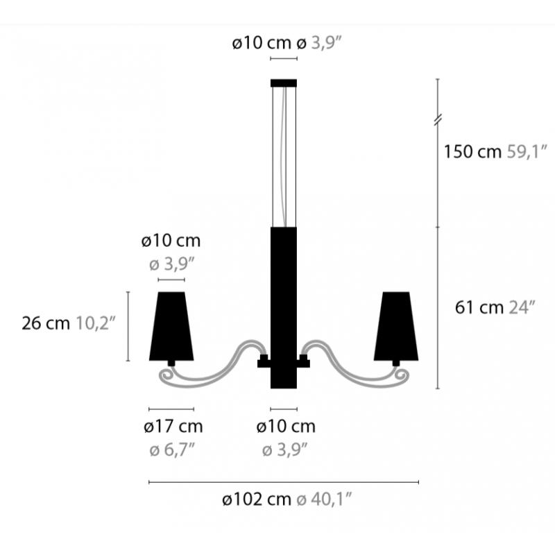 Maten - Hanglamp - Arabian Pearls H8+1 - Ilfari