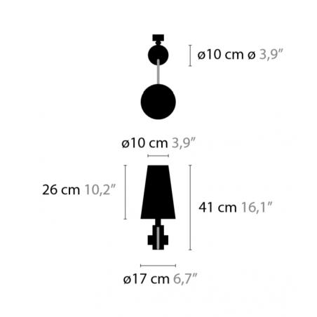 Maten - Wandlamp - Arabian Pearls W1 - Ilfari
