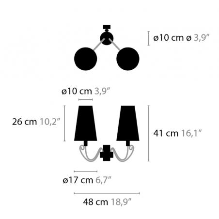 Maten - Wandlamp - Arabian Pearls W2 - Ilfari