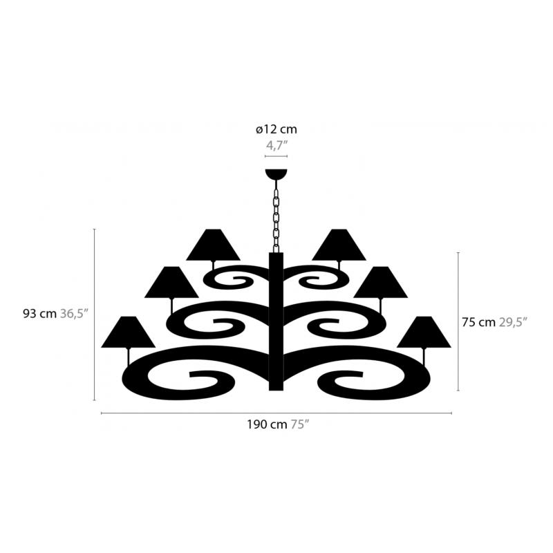 Maten - Hanglampen - Lazy Sunday H18+1 Low - Ilfari
