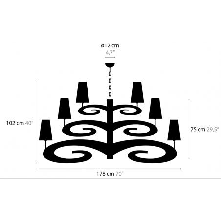 Maten - Hanglampen - Lazy Sunday H18+1 High - Ilfari