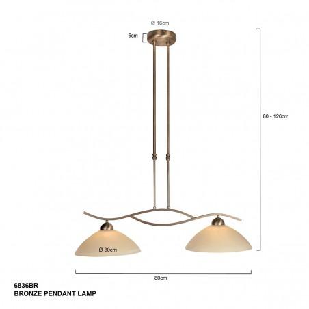 Maten - Hanglamp 6836BR Capri - Steinhauer - 2