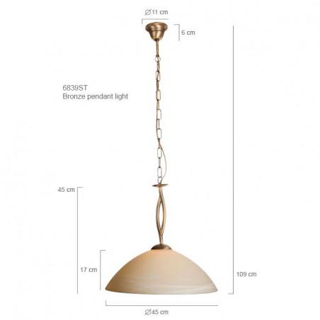 Maten - Hanglamp 6839BR Capri - Steinhauer