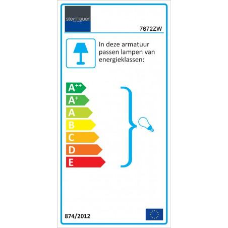 Energie label - Hanglamp 7672ZW Brooklyn Zwart - Steinhauer