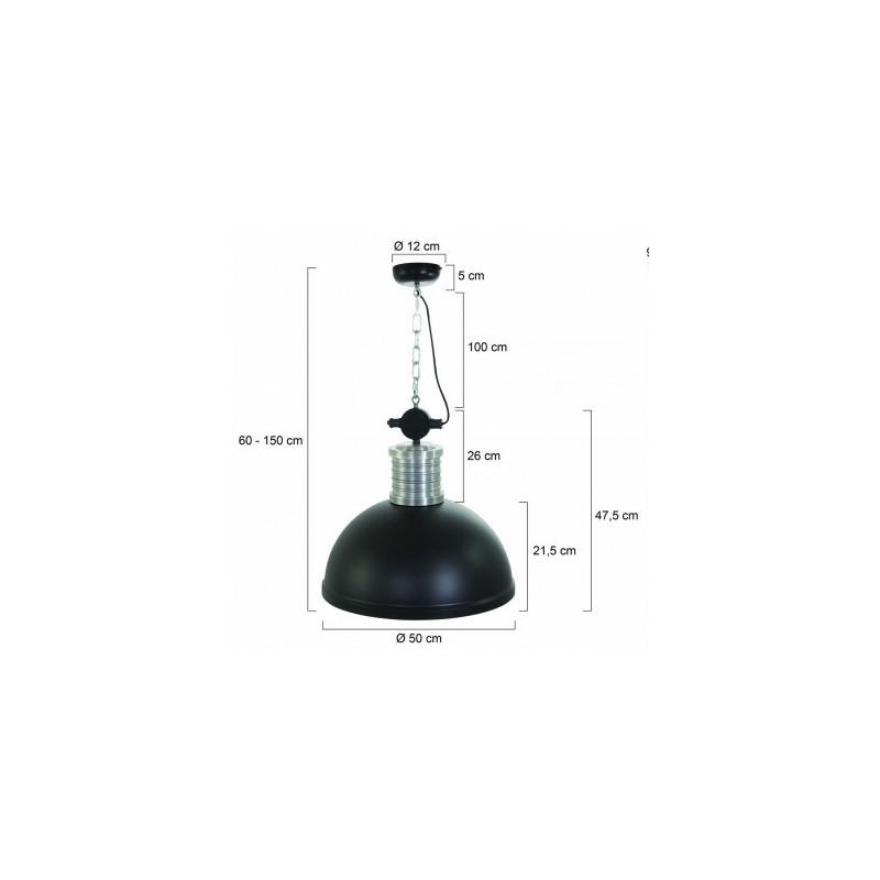 Maten - Hanglamp 7670ZW Brooklyn Zwart - Steinhauer