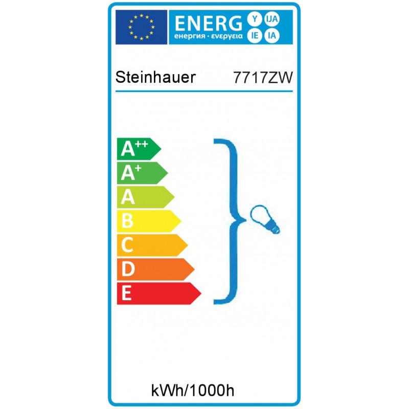 Energie label - Wandlamp 7717ZW Brooklyn Zwart - Steinhauer