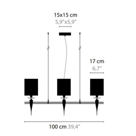 Maten Hanglamp Loving Arms H6 - Ilfari 1