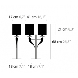 Maten Tafellamp Loving Arms T2 - Ilfari
