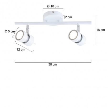 Maten - LED Spots - 7902W Natasja - Steinhauer