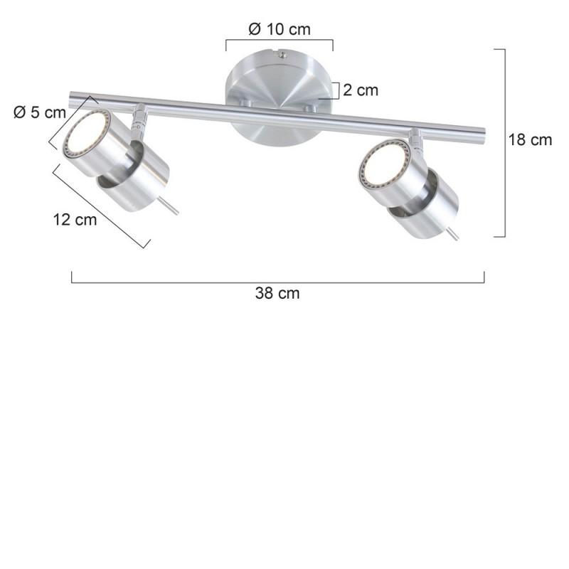 Maten - LED Spots - 7902ST Natasja - Steinhauer