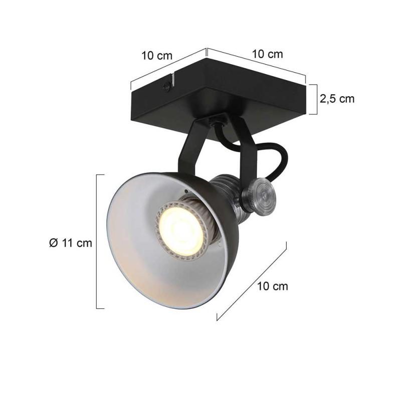Maten - LED Spots - 1533ZW Natasja - Steinhauer