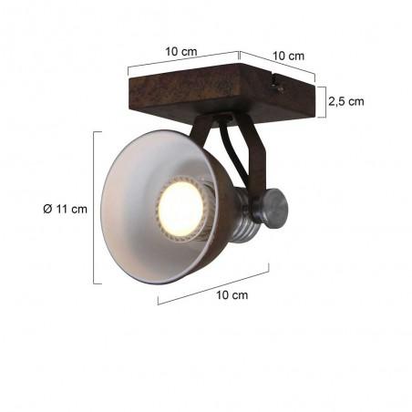 Maten - LED Spots - 1533GR Brooklyn - Steinhauer - 2