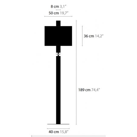 Maten Vloerlamp Sun Rise F3 - Ilfari