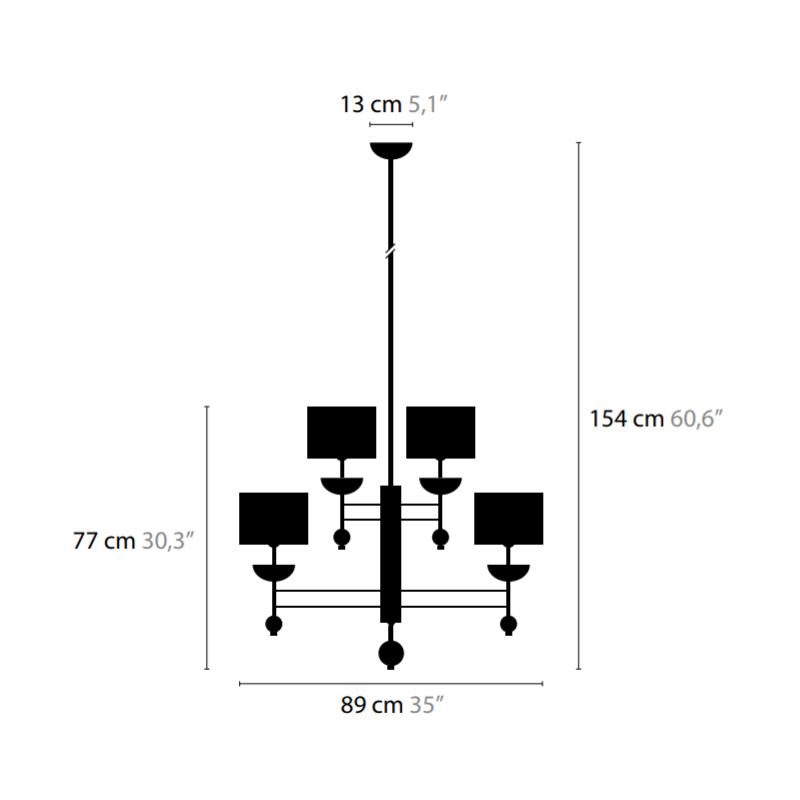 Maten Hanglamp Sweet Symphony H9 - Ilfari