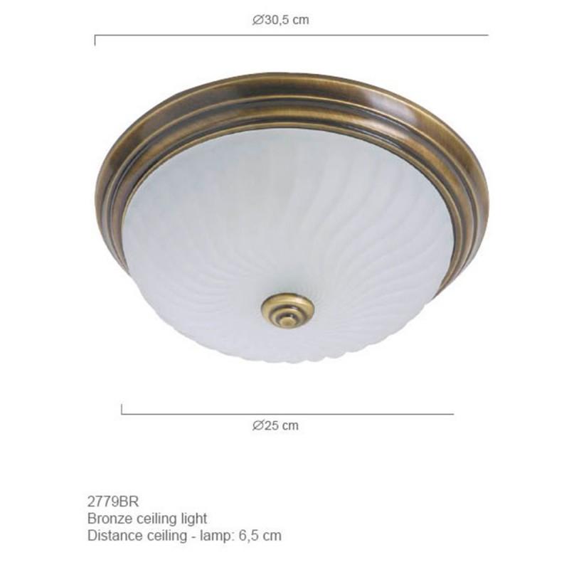 Maten - Plafondlamp 2779BR ceiling and wall - Steinhauer
