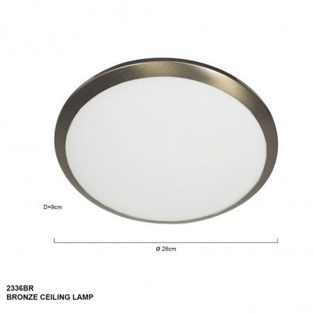 Maten - Plafondlamp 2336BR ceiling and wall - Steinhauer