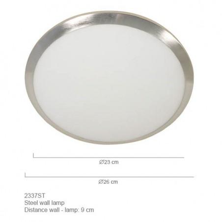 Maten - Plafondlamp 2337ST ceiling and wall - Steinhauer