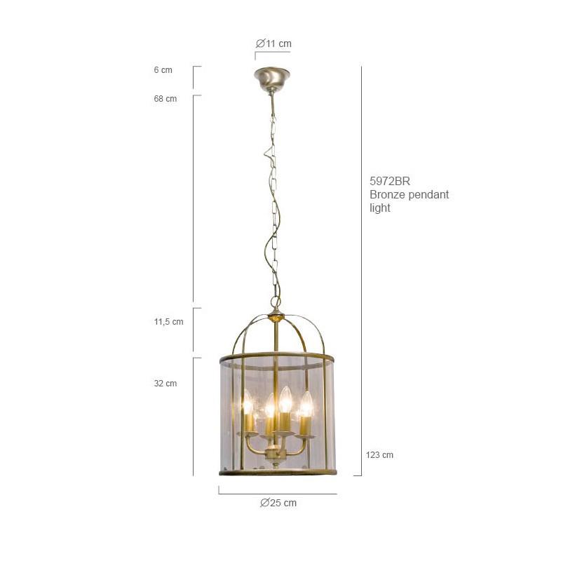Maten - Hanglamp 5972BR Pimpernel - Steinhauer