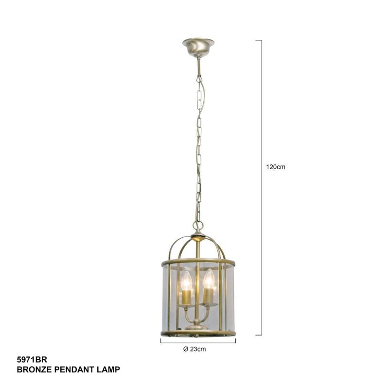 Maten - Hanglamp 5971BR Pimpernel - Steinhauer