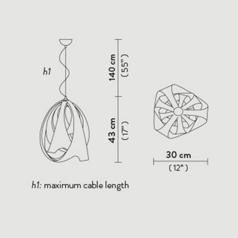 Maten - Hanglamp 8173 Goccia Fire - Slamp