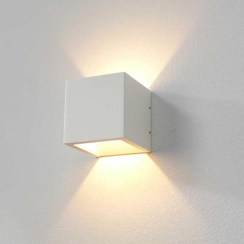 LED wandlamp 8956 Cube Wit - Artdelight