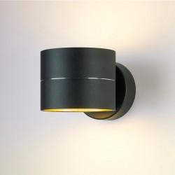LED wandlamp 10073 zwart goud - Oligo