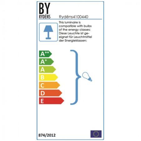 Energie label - Vloerlamp 9824 Foggy - By Rydens
