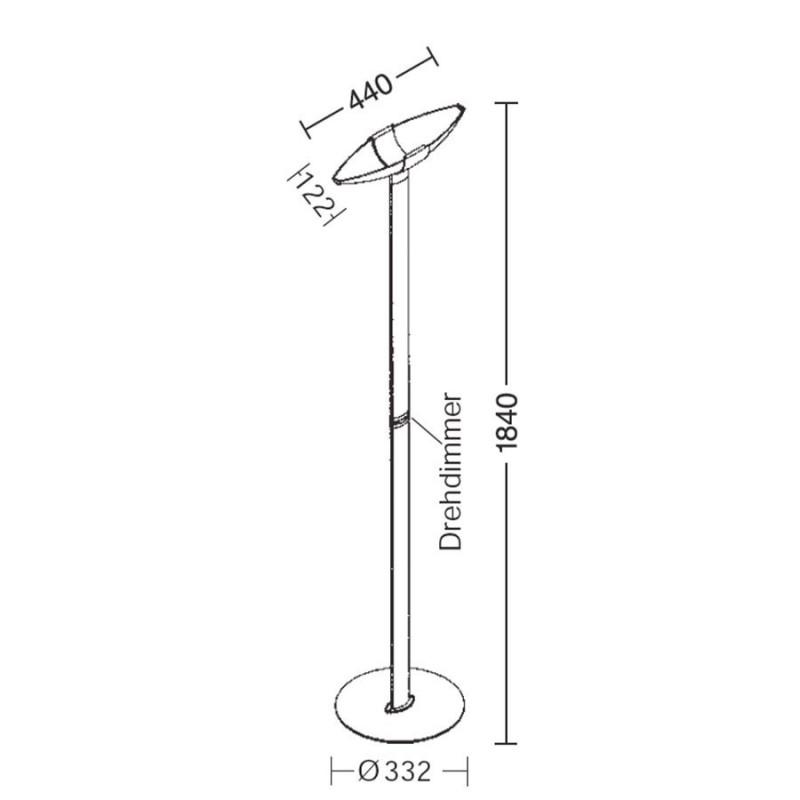 LED vloerlamp 2721 ovaal - Holtkotter