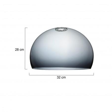 Maten glas - Vloerlamp 9878ZW Stresa - Steinhauer