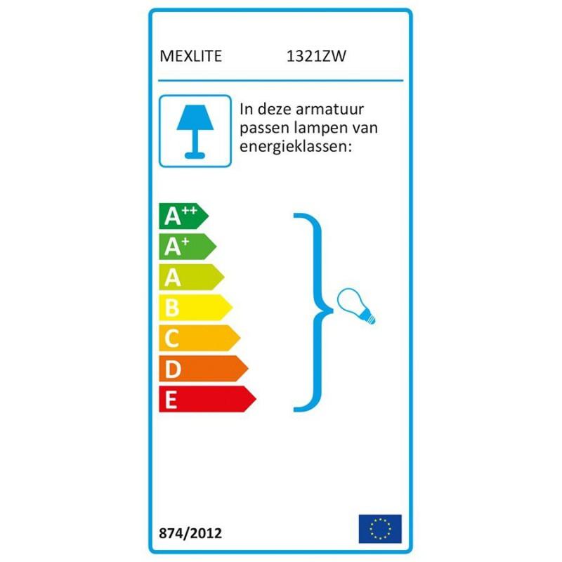 Energy label - Tafellamp 1321ZW Mexlite Nové - Steinhauer