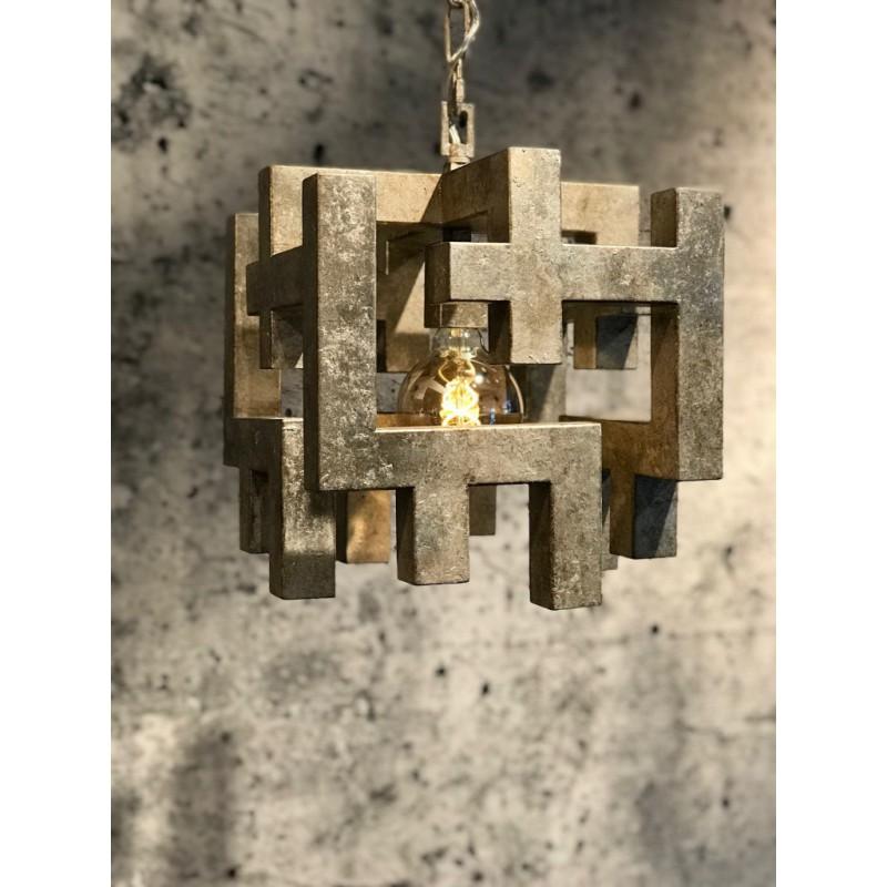 Hanglampen - LB026/1 Magnus ambachtelijk zilver - L&B