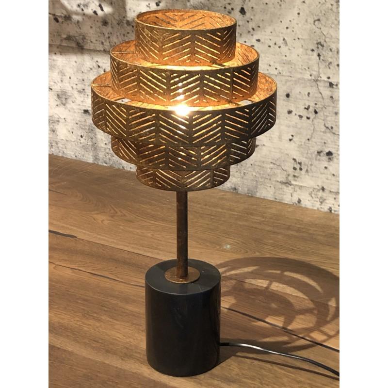 Tafellampen - LB031/1TL Vegas Ambachtelijk Brons - L&B