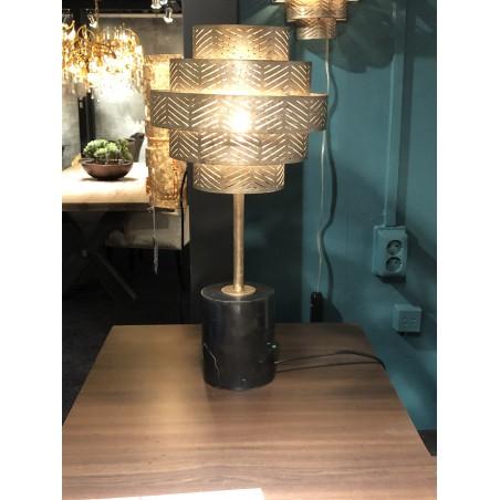 Tafellampen - LB031/1TL Vegas Ambachtelijk Zilver - L&B