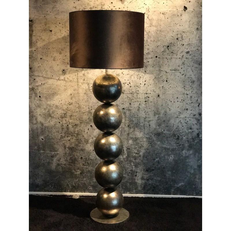 Vloerlampen - LB993TL Boss Silver Cream zwarte kap - L&B