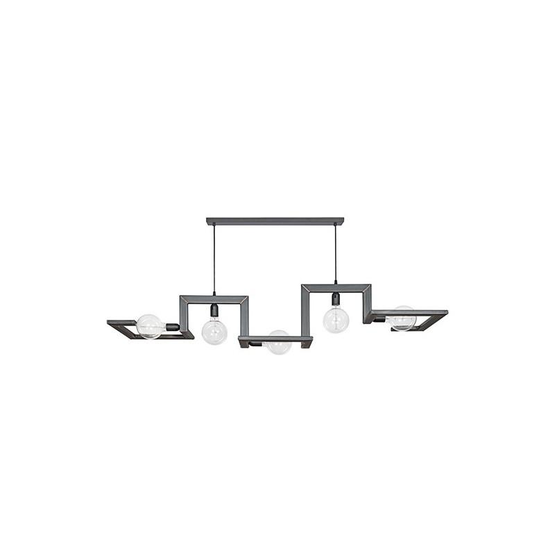 Hanglampen - 9500 Tortona Blauw staal met koperen lassen - Ztahl