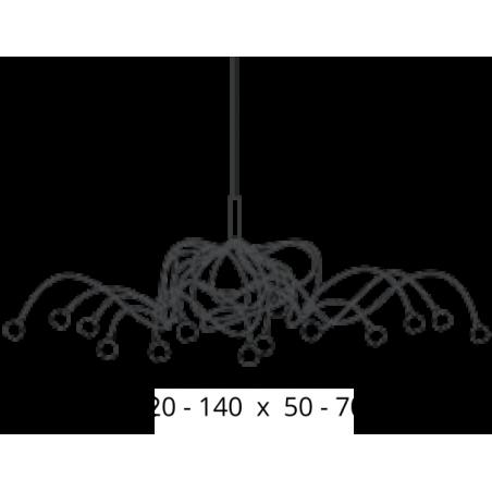 Maten - Hanglamp - Snowball Ovaal - Ztahl