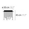 Maten - Plafondlamp - Ice Fall C5 - Ilfari