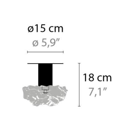 Maten - Plafondlamp - Flowers from Amsterdam C2 XL - Ilfari