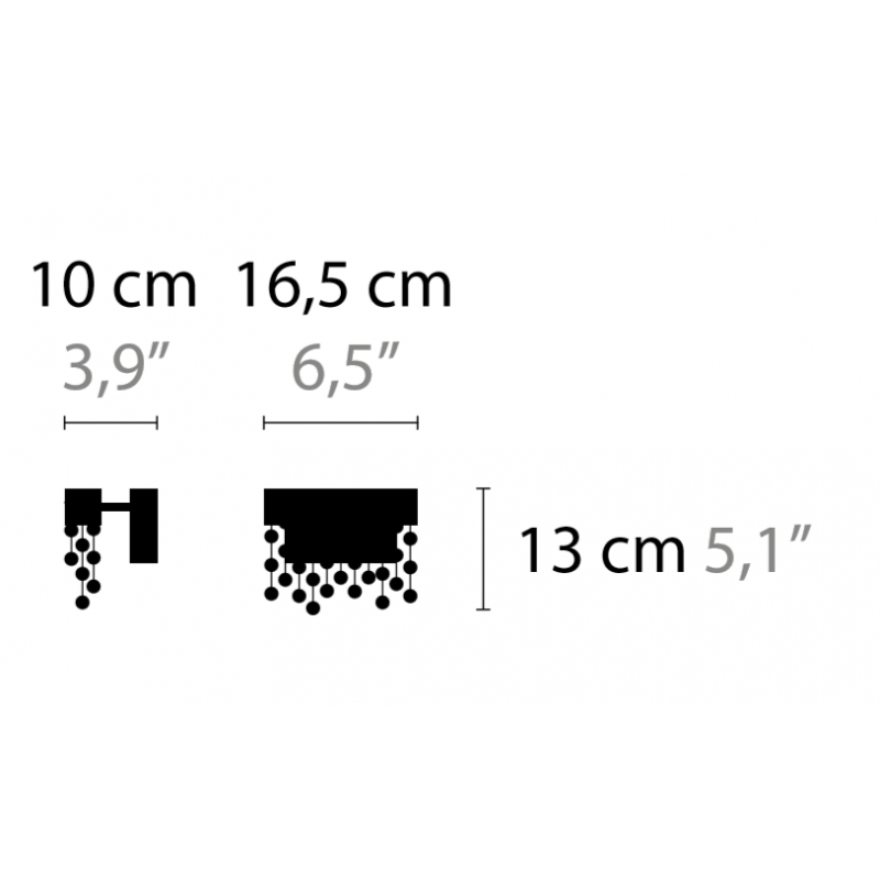 Maten - Wandlamp - Frozen Eyes W1 S C - Ilfari