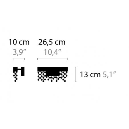 Maten - Wandlamp - Frozen Eyes W1 M C - Ilfari