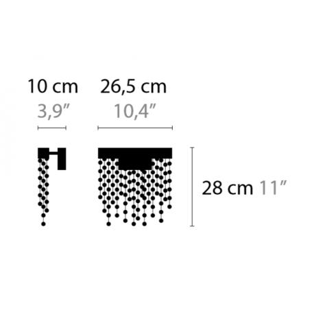 Maten - Wandlamp - Frozen Eyes W1 M CXL - Ilfari