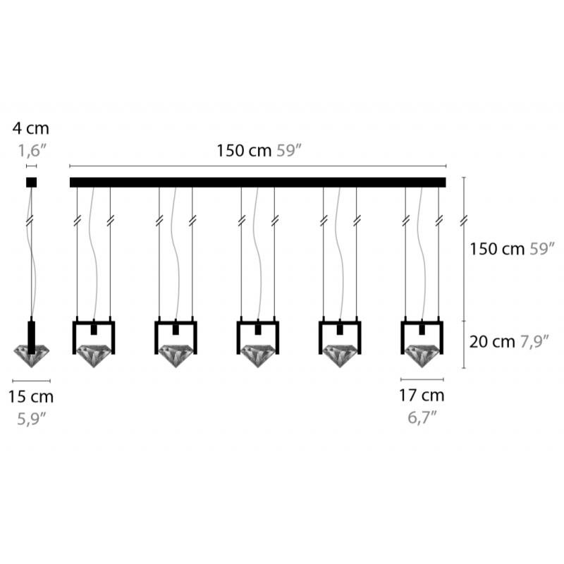 Maten - Hanglamp - Elements of Love H5 - Ilfari