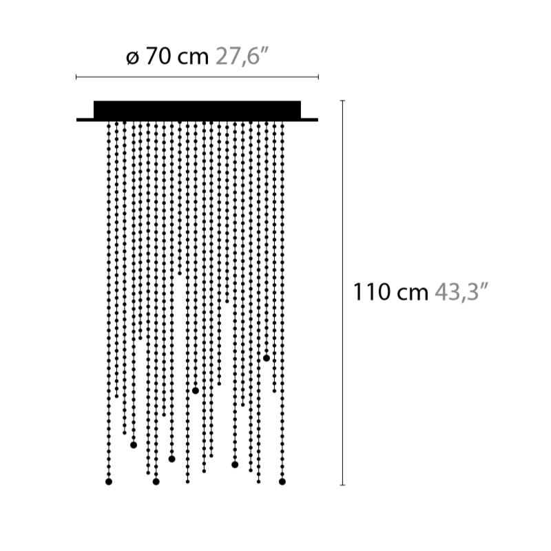 Maten - Plafondlamp - Ice Fall C6 - Ilfari