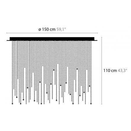 Maten - Plafondlamp - Ice Fall C20 - Ilfari