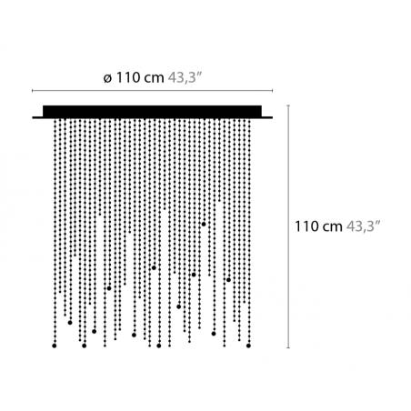 Maten - Plafondlamp - Ice Fall C14 - Ilfari