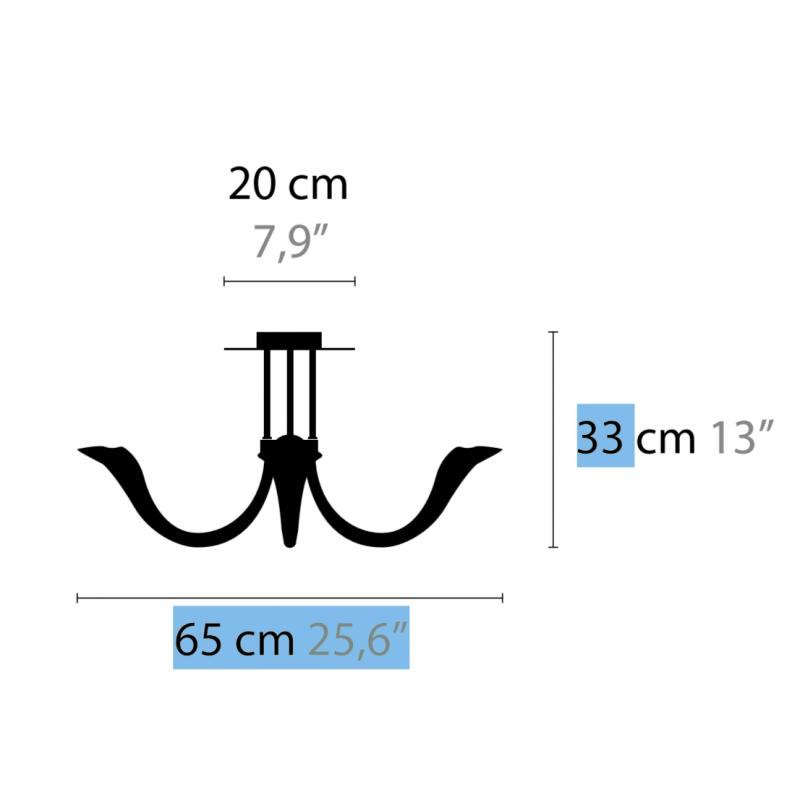Maten - Plafondlamp - Chill Out C5 - Ilfari