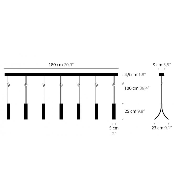 Maten - Hanglamp - Stream H7 - Ilfari