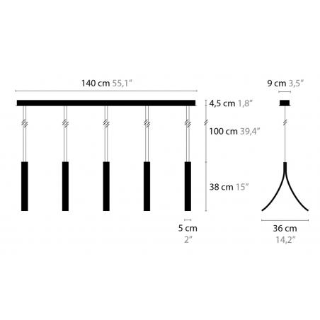 Maten - Hanglamp - Stream H5 XL - Ilfari
